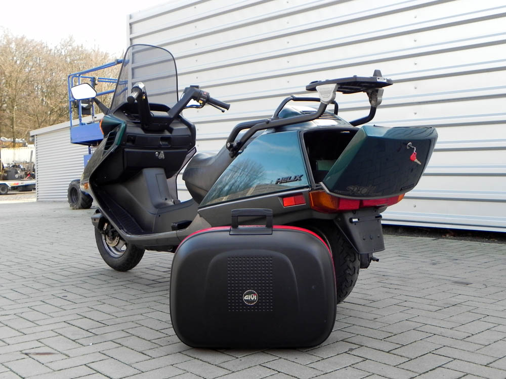 honda helix cn 250 motorroller t v neu roller maxiscooter 250ccm cn250 gr n ebay. Black Bedroom Furniture Sets. Home Design Ideas